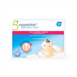 Orgakiddy Sac à couches parfumé senteur talc - 50 sacs