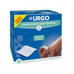 Urgo Compresses absorbantes - 50 sachets de 2 compresses