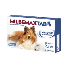 Milbemax tab vermifuge spectre large chien 5 kg et plus - x2 comprimés