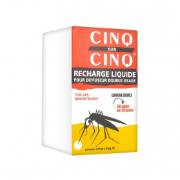 Cinq sur Cinq  recharge liquide anti-moustiques pour diffuseur double usage - x1