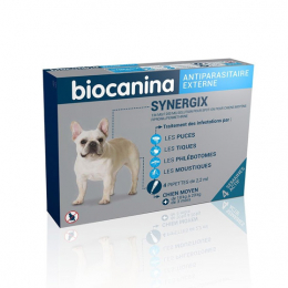 Biocanina Synergix Chien moyen 134mg - 4 pipettes