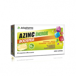 Arkopharma Azinc énergie booster - 20 comprimés effevescents