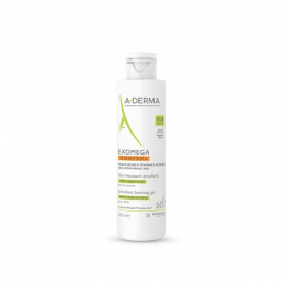 Aderma Exomega control Gel moussant émollient visage et corps - 200ml