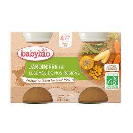 Babybio Petits pots Jardinière de légumes BIO - 2x130g