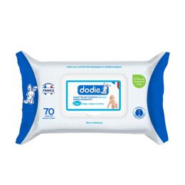 Dodie lingettes nettoyantes dermo-apaisantes - 70 lingettes