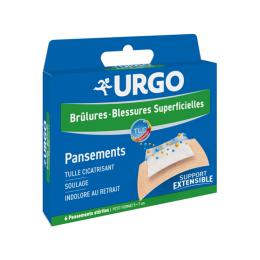 URGO Brûlures et blessures superficielles - 6 pansements stériles