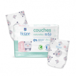 Biolane Couches eco-responsables Taille 1 - 28 couches