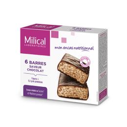 Barres hyperprotéinées saveur chocolat - 6 barres