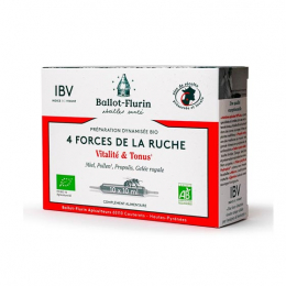 Ballot-Flurin Préparation dynamisée BIO 4 Forces de la ruche - 10 ampoules