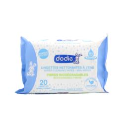 Dodie Lingettes nettoyantes à l'eau Dermo-apaisante - x20