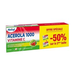 Alvityl Acérola 1000 Vitamine C - 2x30 Comprimés à Croquer