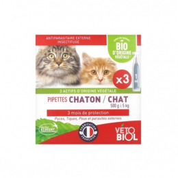 Vétobiol pipettes chaton / chat - 3x1ml