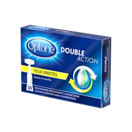 Optone Double Action gouttes hydratantes et lubrifiantes Yeux irrités- 10 unidoses