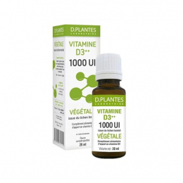 D.Plantes Vitamine D3++ végétale 1000 UI - 20ml