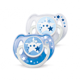 Avent Sucette nuit silicone 6-18 mois - x2 sucettes