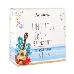 AquaTéal lingettes eau bronzante - 8 lingettes