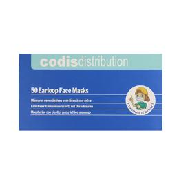 Masques chirurgicaux à fixations auriculaires pour enfant TAILLE S - 50 masques