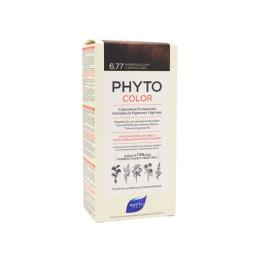Phyto color Kit de coloration permanente 6.77 marron clair cappuccino