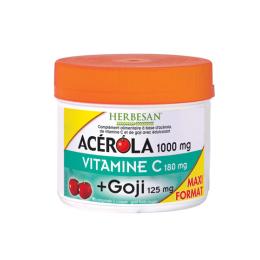 Herbesan Acérola Vitamine C Goji - 90 comprimés à croquer
