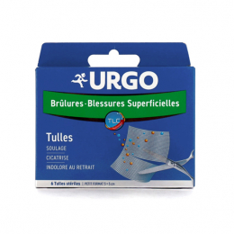 URGO Brûlures et blessures superficielles - 4 tulles stériles