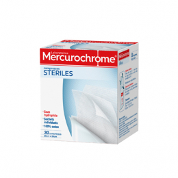 Mercurochrome compresses stériles - 30 compresses