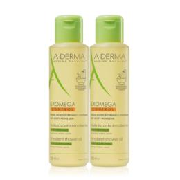 A-derma Exomega control Huile lavante émolliente - 2x500ml