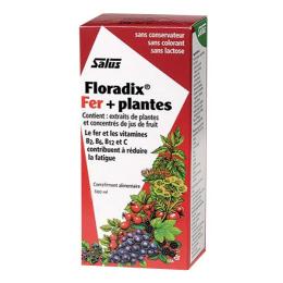 Salus Floradix boisson fer + plantes 500ml