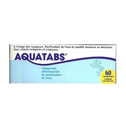 Aquatabs purification de l'eau - 60 comprimés