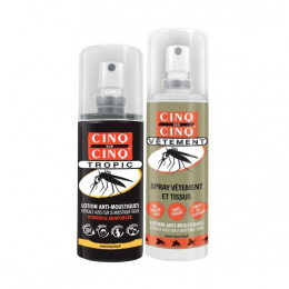 Cinq sur Cinq kit haute protection tropic lotion anti-moustiques 75ml + spray vêtements 100ml