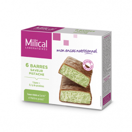 Barres hyperprotéinées saveur pistache - 6 barres