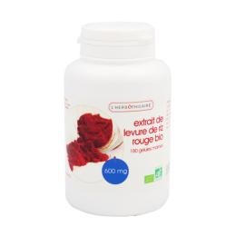 L'herbothicaire extrait de levure de riz rouge BIO - 180 gélules marines