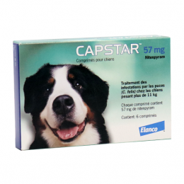 Capstar 57mg chiens - x6 comprimés