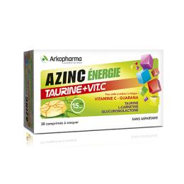 Arkopharma Azinc énergie Taurine et Vitamine C - 30 comprimés