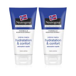 Neutrogena Crème mains Hydratation & confort - 2x75 ml