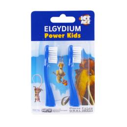 Elgydium power kids têtes pour brosse à dents électrique - 2 têtes de brosse