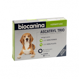 Biocanina Ascatryl trio Chien - 4 comprimés