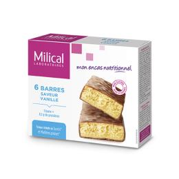Barres hyperprotéinées saveur vanille - 6 barres