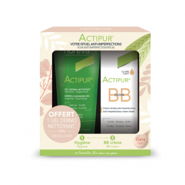 Noreva Actipur Coffret BB Crème claire - 30ml + Gel dermo-nettoyant 100ml OFFERT