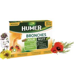 Humer Bronches jour et nuit - 10 comprimés jours + 5 comprimés nuit