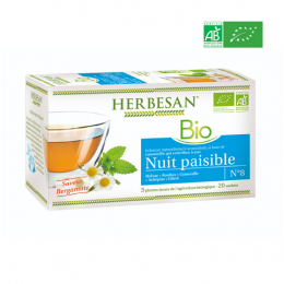 Herbesan Infusion BIO Nuit paisible - 20 sachets