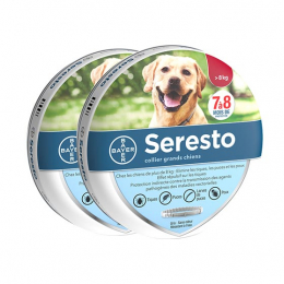 Bayer Seresto Collier antiparasitaire Grand chien - 2 colliers