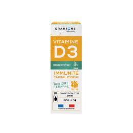 Granions Vitamine D3 végétale 200UI - 20ml