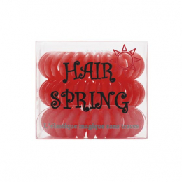 Hair Spring Elastique magique Rouge Ruby - x3
