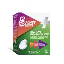 Nutrisanté 12 Vitamines + Ginseng - 24 comprimés à croquers
