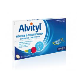 Alvityl mémoire et concentration - 30 capsules