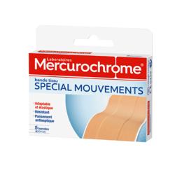 Mercurochrome Bande tissu Spécial mouvement - 5 bandes