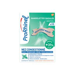 ProRhinel Bandelettes Menthol - 10 bandelettes