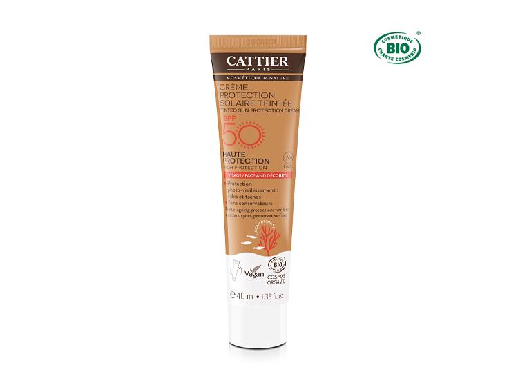 Cattier crème protection solaire teintée SPF50 BIO - 40ml