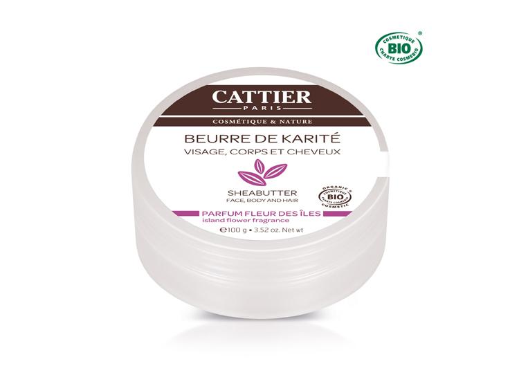 Cattier beurre de karité parfum fleur des îles bio - 100g